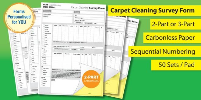 Carpet Cleaning Survey Form