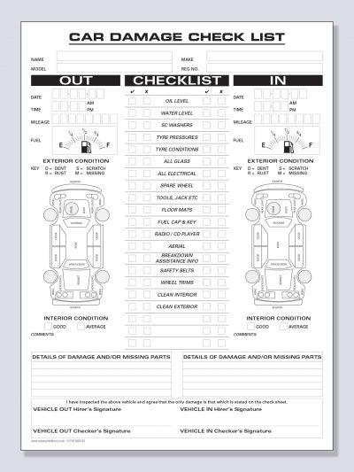 Vehicle Checklist Inspection
